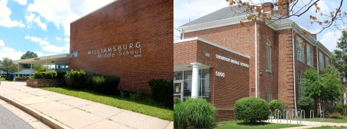 WILLIAMSBURG & SWANSON JR. HIGH SCHOOLS    ---  Click on photos to enlarge