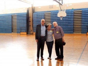 GEORGE YEONAS, SUZIE COOPER BUCK & FRED GOSNELL IN THE W'BURG GYM, OCTOBER 2016