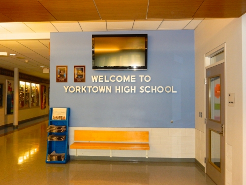 ENTRANCE TO YHS TODAY